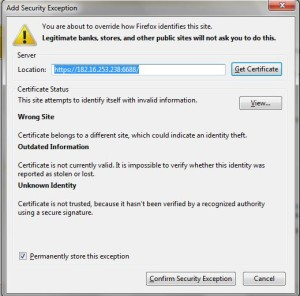 3.add exeption Security