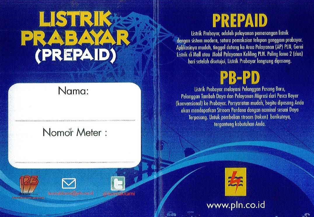 PLN - Brosur Listrik Prabayar (Page 1)