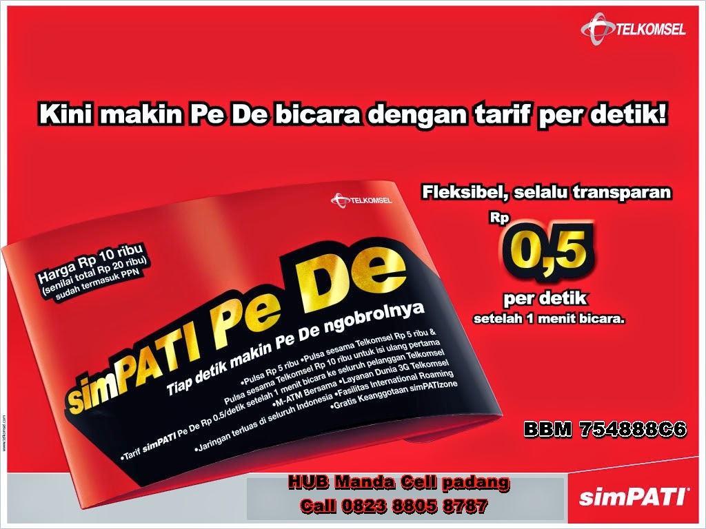 simPATI Pede Nelpon murah ke semua nomor telkomsel hanya 0,5 per detik. manda cell padang 2015 toko bagus padang