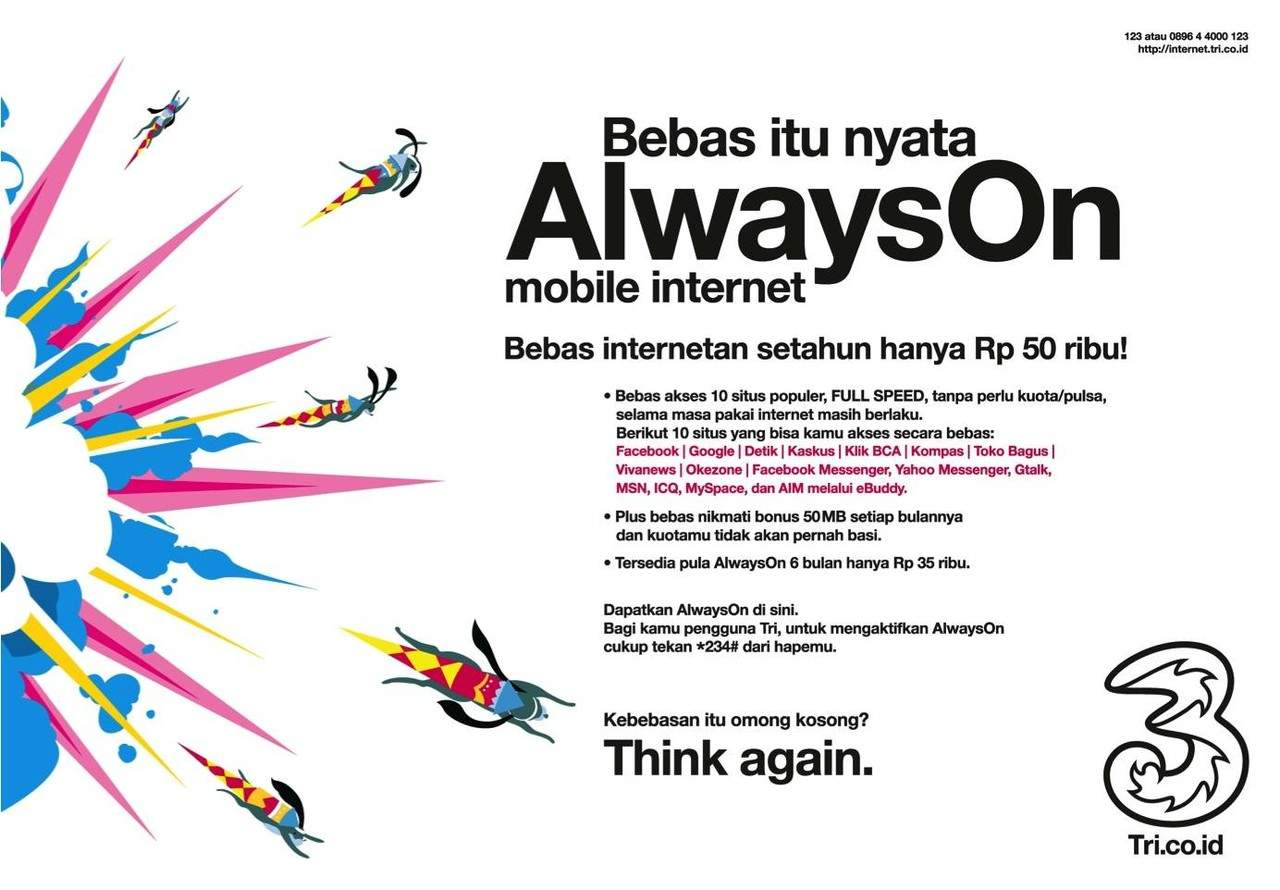 Paket Internet 3 Always On (AON)
