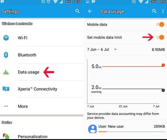 aktif mobil data