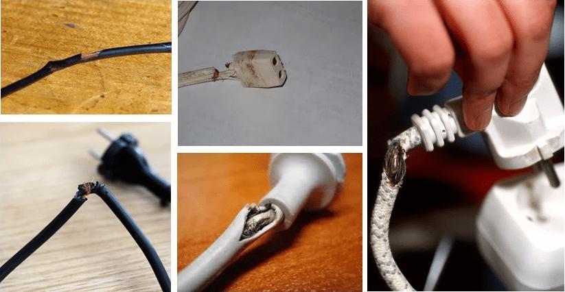 kabel terkelupas