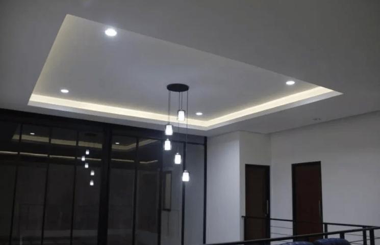 rumah dengan lampu led