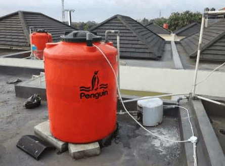 pasang pompa air dan tandon air
